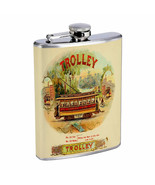 Vintage Cigar Box Poster D19 Flask 8oz Stainless Steel Hip Drinking Whiskey - $13.81