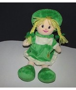 Zaks Irish Soft toy Collection blonde hair plush rag doll girl Dublin Ir... - $17.81