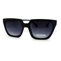 Flat Top Trapezoid Sunglasses Thorn Studs Design Trendy Stylish Shades - £6.14 GBP