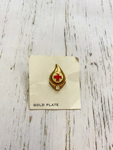 """Red Cross Blood Donor 3 Gallon Donor Lapel Hat Pin 3/4"""" - $5.59"""