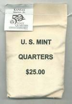 2005-D State Quarter - KANSAS - $25 MINT SEWN BAG - $41.95