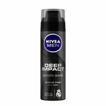 NIVEA MEN Shaving Foam, Deep Impact Smooth Shave, 200 ml free ship - $12.97