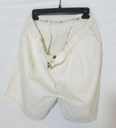 TOMMY BAHAMAS MEN'S STRETCH CASUAL SHORTS CREME COTTON 4 POCKETS SIZE 40 EUC