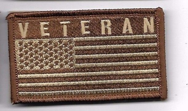 Primary image for VETERAN DESERT FLAG  2 X 3  EMBROIDERED PATCH WITH HOOK LOOP