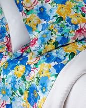 Ralph Lauren Ashlyn Floral Queen Deep Fitted Sheet Tropical Blue Yellow ... - $95.00