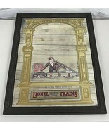 """1981 Lionel Trains Mirror Sign Advertising More Than A Toy 24""""X18"""" Vinta... - $98.89"""