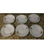 """(6) Royal Heritage Saucers ITALY Pink  Roses China 5"""" gold trim CAN U ID... - $14.85"""
