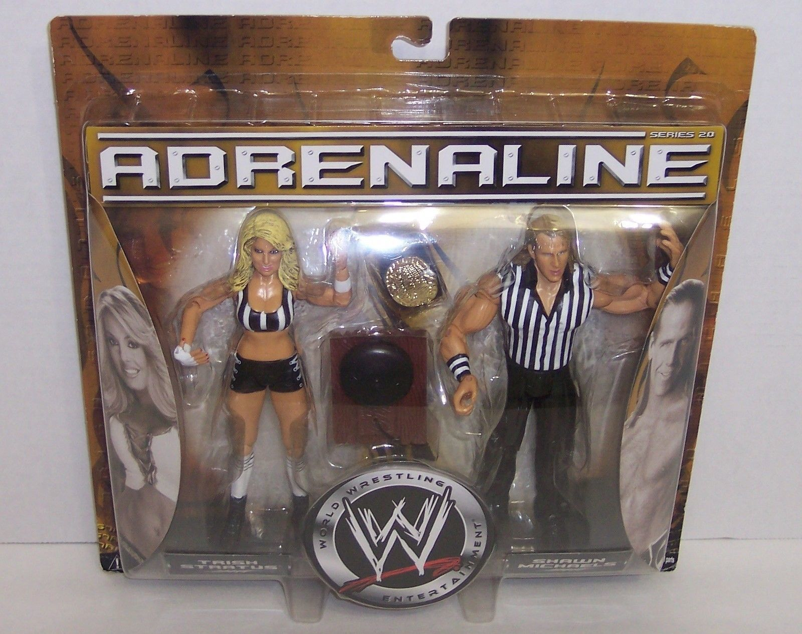 "Primary image for NEW! Adrenaline ""Trish Stratus"" & ""Shawn Michaels"" Action Figure Set WWE {1483}"