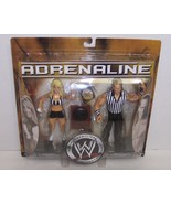 "NEW! Adrenaline ""Trish Stratus"" & ""Shawn Michaels"" Action Figure Set WWE... - $44.54"