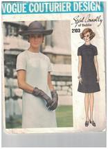 2103 Vintage Vogue Patron Couture un Message Robe Sybil Connolly Couturier - $49.93