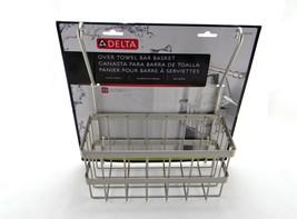 New Delta FSC06BN Over-the-Towel Bar Basket in SpotShield Brushed Nickel - $7.44