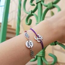 Om bracelet, yoga bracelet, yoga jewelry, om charm, meditation bracelet,... - $29.99