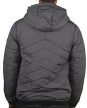 Bench Ahlo Black Charcoal Grey Quilted Lightweight Winter Jacket Hood BMKA1469 image 5