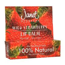 Natural Janet Ayurveda Wild Tangerines - WILD STRAWBERRY LIP BALM - $5.80