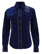 Women's El General Cowgirl Shirt Camisa Vaquera Mujer Azul Cobalto Long ... - ₹2,249.26 INR