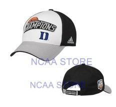 DUKE BLUE DEVILS ADIDAS NCAA BASKETBALL FINAL FOUR CHAMPS MEN'S CAP HAT ... - $15.83