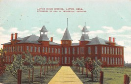 High School Altus Oklahoma 1909 postcard - $6.93