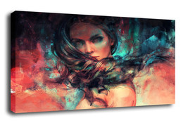 "Character Art Oil Painting Print On Canvas Modern Decor""pretty girl""Framed - $13.95+"