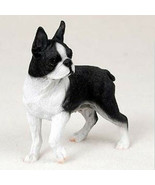 BOSTON TERRIER  DOG Figurine Statue Hand Painted Resin Gift Pet Lovers Tan - $19.99