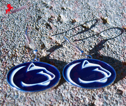 University of Pennsylvania State Dangle Earrings, Sports Earrings - Coll... - $3.95