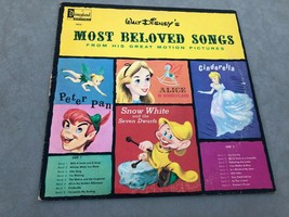 VINTAGE 1964  DISNEYLAND RECORD WALT DISNEY'S MOST BELOVED SONGS LP 1213 - $10.88