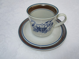 Vintage Salem China Cup/Saucer Georgetown Stoneware - $9.05