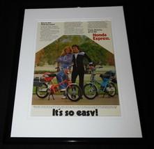 1979 Honda Express Framed 11x14 ORIGINAL Advertisement - $37.04