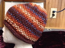 NEW Multicolor Hand-knitted Wool Cap/Beanie