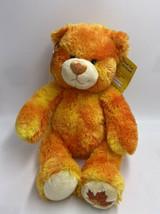NWT Build A Bear Friend Fur All Seasons Autumn Leaf Orange Sparkle Plush 2007 - $24.99