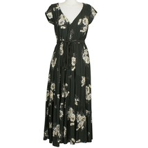 FREE PEOPLE Black All I Got Floral Tiered Flared Maxi Long Dress 2 - $99.99