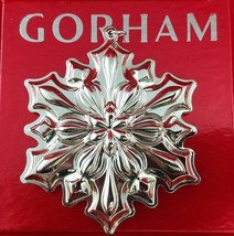 Gorham 2018 Annual Sterling Silver Snowflake Ornament 49th Edition New I... - $98.10