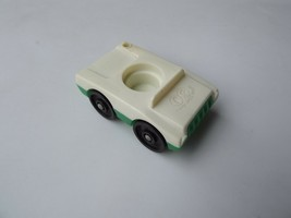 Vintage Fisher Price Little People White and Green Car for Airport Jet - $2.99