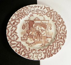 1975 Royal Crownford Merry Christmas Plate Staffordshire England Norma S... - $17.77