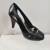 Simply Vera by Vera Wang Peep Toe Heels Womens Sz 6.5M Black - $35.23