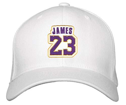 Lebron James No. 23 Hat - Adjustable Unisex White Basketball Cap