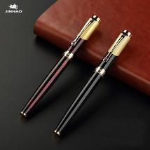 Jinhao 9009 Luxury Gold Rollerball Pen with Diamond Clip Smooth Metal Ba... - $119.99
