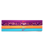 NEW Nike Girl`s Assorted All Sports Headbands 4 Pack Multi-Color #18 - $20.00
