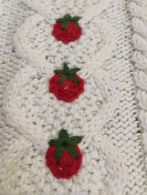 NWT Marisa Christina L Large Strawberry Patch Sweater Vest White Red Green image 3