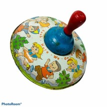 Ohio Art Spinning Toy Top Metal Here We Go Round the Mulberry Bush Made ... - $19.99