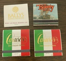 4 Bally's Casino Reno Nevada Casino Hotel Matchbook Vintage Restaurant P... - $11.84