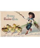 Vintage Postcard Easter Boy in Sailor Suit Walks Chicks Clapsaddle Unsigned - $7.91