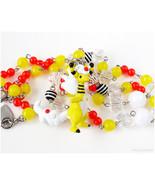Mega Ampharos Pokemon Necklace, Beaded Rosary Chain, Pokemon Jewelry, Ga... - $43.00