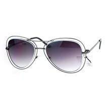 Double Wire Frame Aviator Sunglasses Women's Fashion Shades UV 400 - $11.95