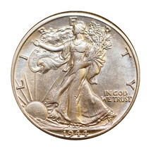 1944 D Walking Liberty Half Dollar - Choice BU / MS / UNC - $41.00