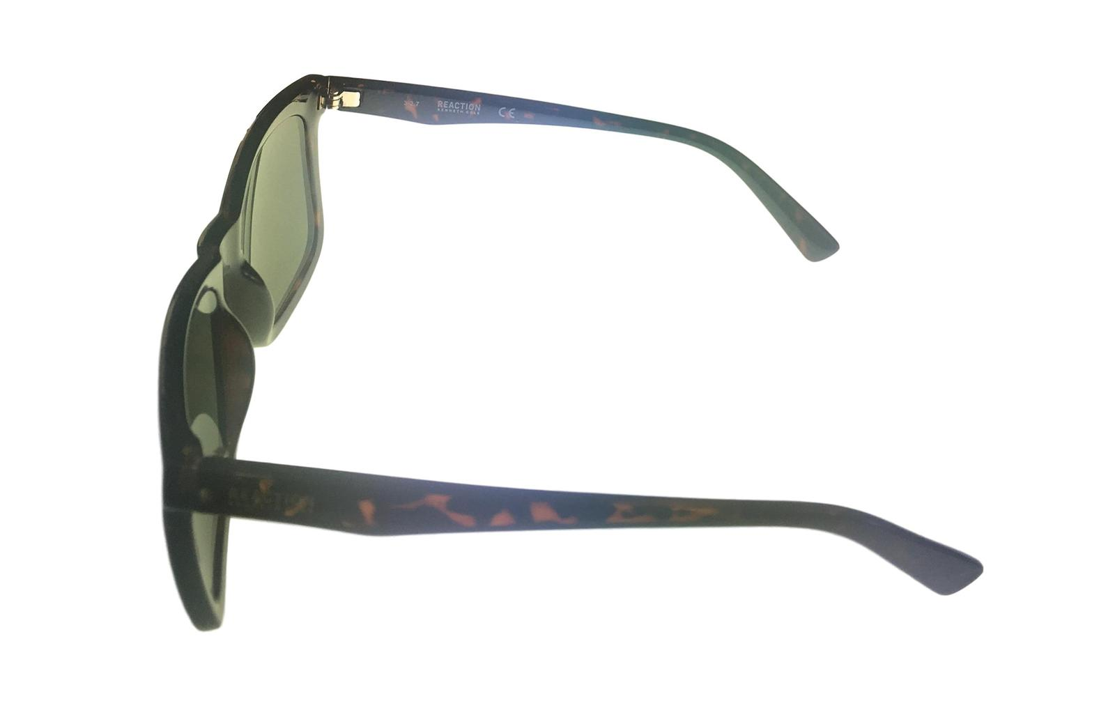 Kenneth Cole Reaction Mens Soft Square Shiny Tortoise Sunglass KC1324 52N image 3