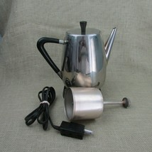 Vintage West Bend 5 to 9 Cup Electric Coffee Pot Percolator Mid Century ... - $28.75