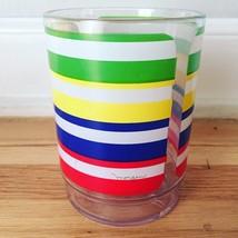 Vintage 70s Morgan Lucite Cocktail Glasses - Rainbow Stripe Design image 2