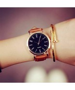 Fashion Casual Women Watches Leather Quartz Ladies Dress Simple Style Wr... - $9.99