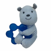 Carter's Child Of Mine Blue Puppy Dog Teether Teething Ring Baby Toy Plush  - $9.85