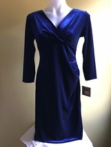 Ellen Tracy Women Velvet Dress Black and Blue Size S  - $29.00
